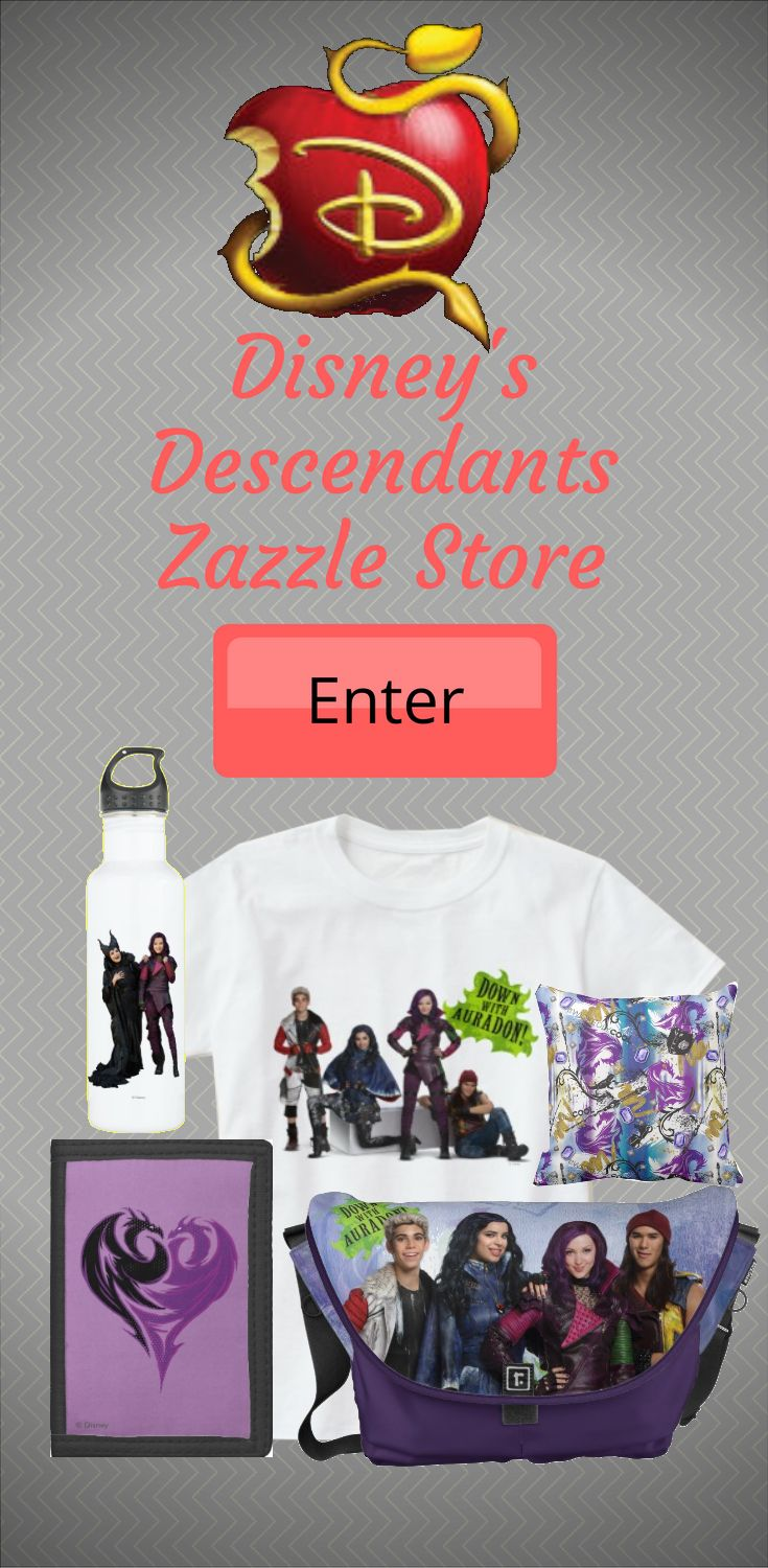 Check out the wickedly cool Descendants store, officially licensed by the smash hit Disney Channel movie series. Offering fun for all the family Descendants tells a tale of a modern day monarchy filled with friendship, magic and adventure. The store boasts an exciting array of colorful designs inspired by the action packed musical fantasy. We've got Mal, Evie, Uma, Jay and all of your favorite characters across a great selection of customizable items. Shop for mugs, t-shirts, cases  and…