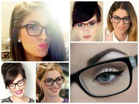 Fotos de moda   El mejor maquillaje para cuando usas gafas   http://soymoda.net