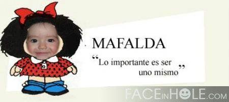 Hacer fotomontajes con famosos, como en la infante Mafalda