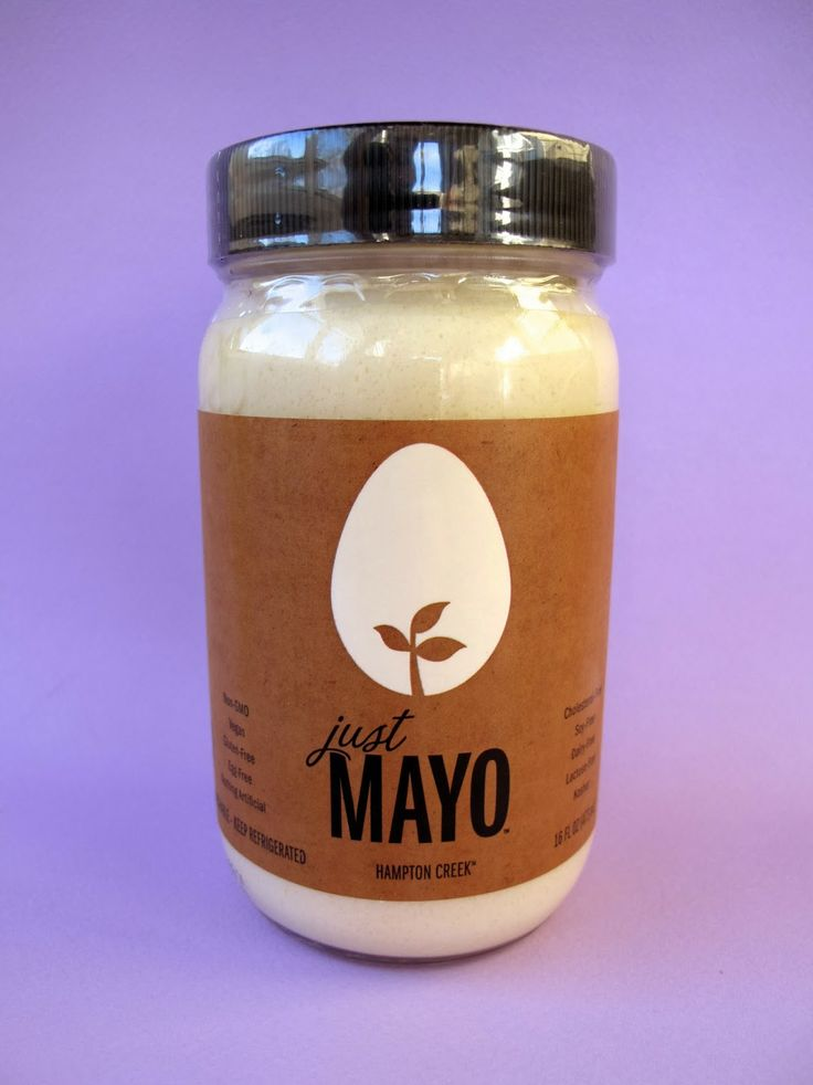 Hampton Farms Just Mayo. Plant based mayo with No Eggs,Non GMO,Cholesterol-Free,Gluten Free,Dairy Free,Lactose Free! Awesome taste, after you try it you won't go back to other mayo's! Costco or Whole Foods.BEST MAYO EVER!