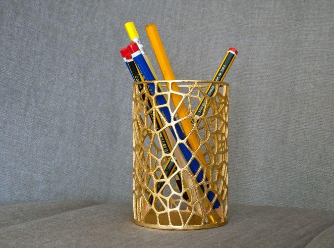 Pen Holder Voronoi Design Pinterest
