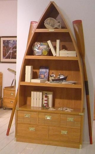 Boat Shaped Bookcase Kids Woodworking Projects Amp Plans