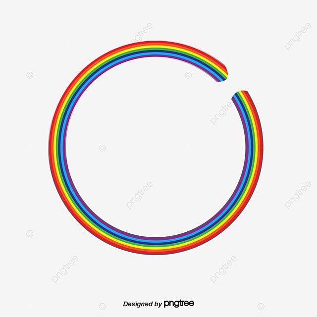 Rainbow Circle Png And Psd Rainbow Clipart Circle Rainbow
