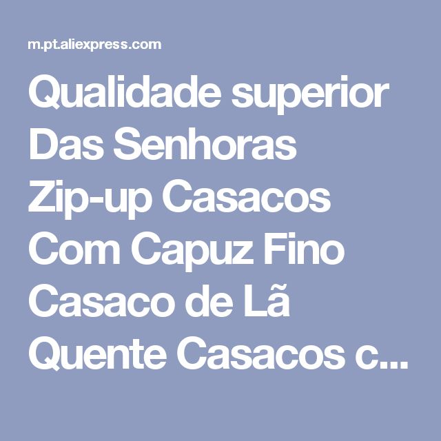 Qualidade superior Das Senhoras Zip-up Casacos Com Capuz Fino Casaco de Lã Quente Casacos com Capuz Jacket Hoodies Casual Inverno Q4609 Loja Online   aliexpress móvel