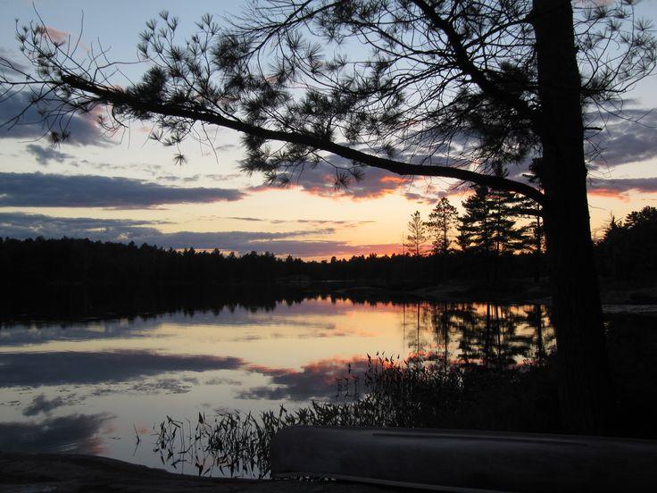 Kawartha Highlands National Park, Apsley Ontario. Beautiful Sunset