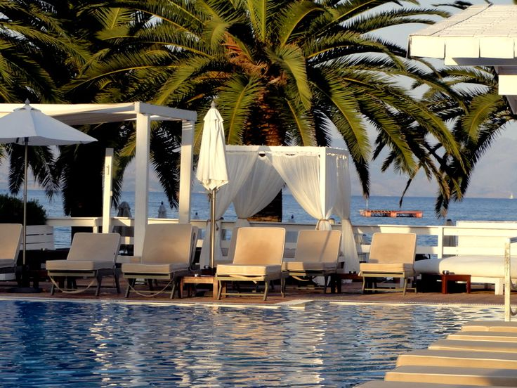 End Of The Day At Malibu Beach Bar In Dassia Corfu Greece Pinterest B
