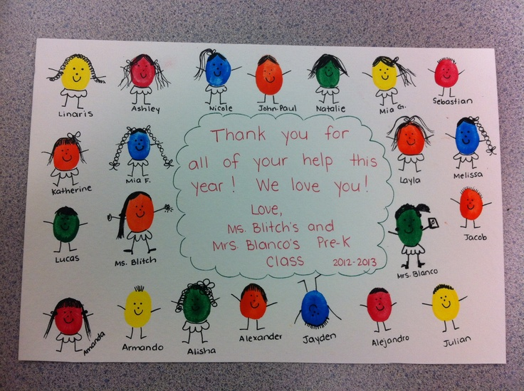 Thumbprint Thank You | Handprint/Footprint Activities ...