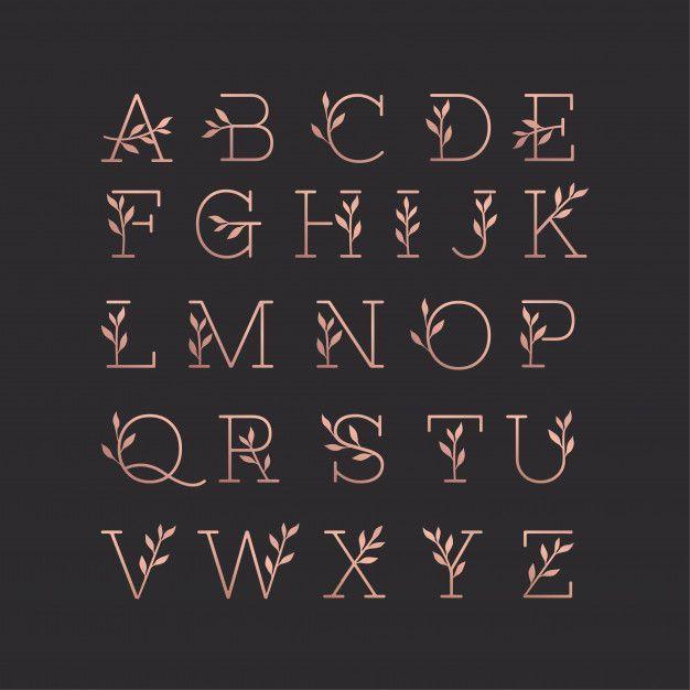 Bela Colecao Floral Monoline Do Alfabeto Bela Colecao Floral Monoline Do Alfabeto Typo In 2020 Lettering Alphabet Fonts Hand Lettering Alphabet Lettering Alphabet