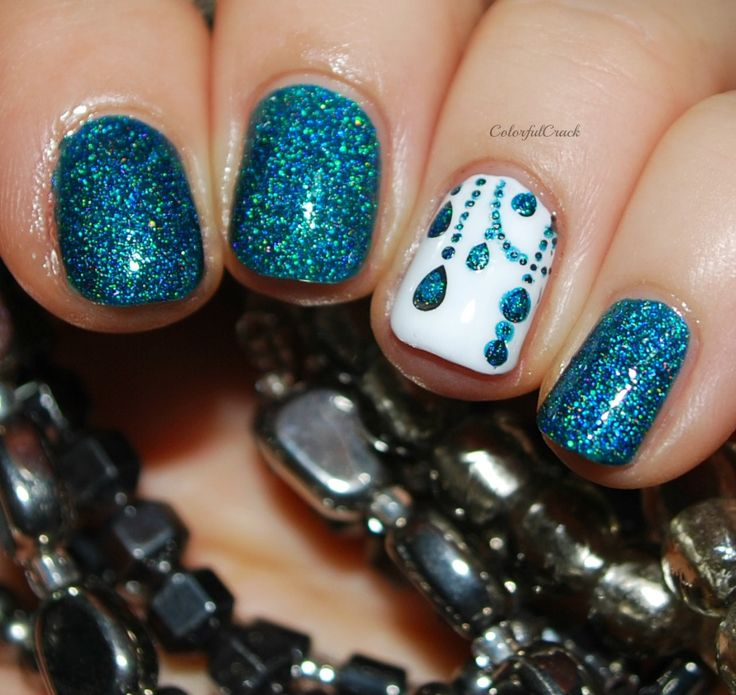 Glam Polish: ☆ Cauldron ☆ with dreamcatcher nail art on accent nail