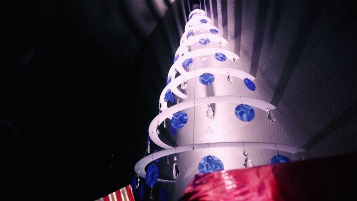 Modern Christmas Half Tree