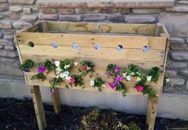 Echt Gute Idee Pallet Planter Box Pallet Planter Planter Boxes