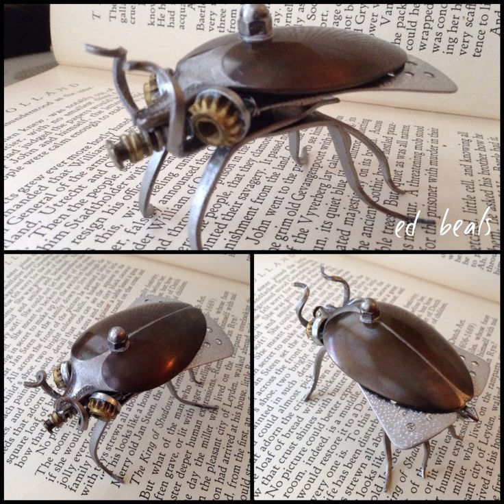 Found object assemblage beetle.