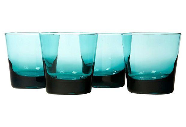 1960s Teal Bar Glasses, S/4 on OneKingsLane.com