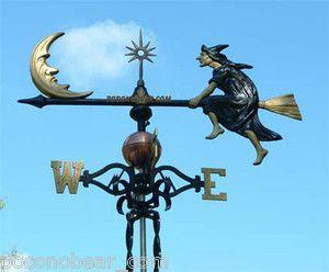 Weathervane Witch Moon Weather Vane Lightning Rod   eBay