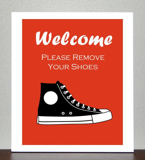 Printable Please Remove Your Shoes Sign by GotPaperDesigns on Etsy, $5.00
