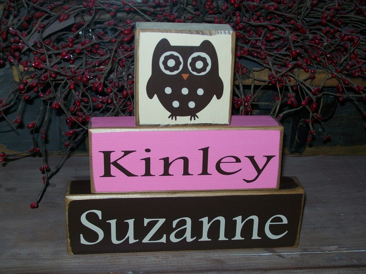 154 best baby girl owl nursery images on pinterest baby girl owl personalized baby girls kids names owl themed primitive block sign distressed nursery decor 2199 negle Image collections