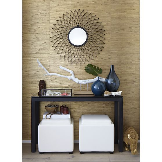 Dahlia Round Wall Mirror | Foyers, Cubes and Grey