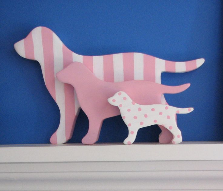 Stackable Set Of 3 Wooden Dogs Decoration by art4milkbones on Etsy, $25.00