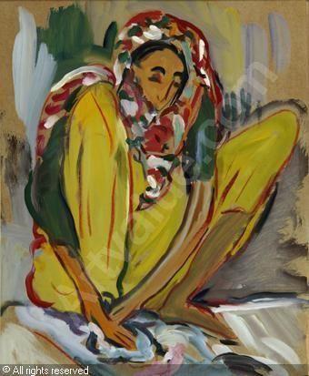 Sitting Zanzibar Figure, Irma Stern