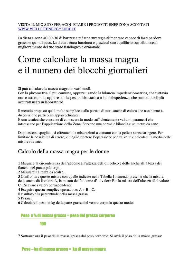 dieta-a-zona-calcolo-blocchi-per-donna-e-uomo by Davide Didonato via Slideshare