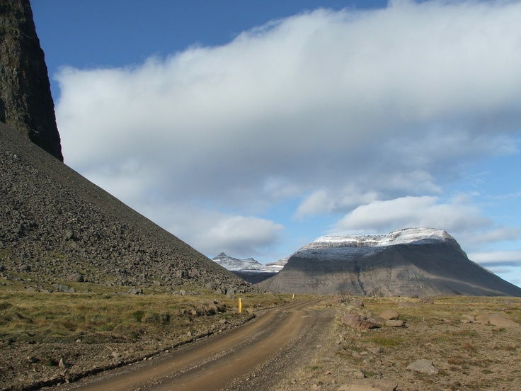 On Strandir coast. Under the great mountain Kaldbakshorn in September.