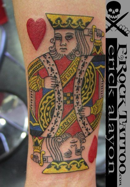 34 best poker tattoo images on pinterest poker tattoo for Suicide kings tattoo