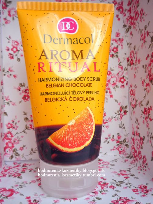 dermacol aroma ritual - telový píling (belgická čokoláda)