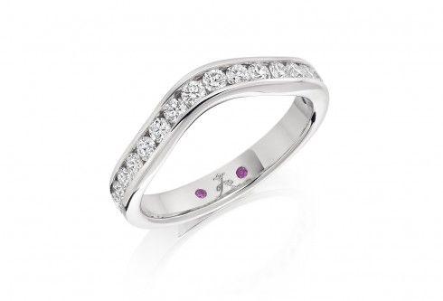 Platinum 0.65ct diamond wave eternity ring