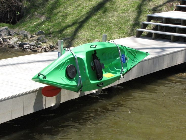 Kayak Launching Ramp for Dock   Dock Sides Kayak Racks by Tie Down Engineering