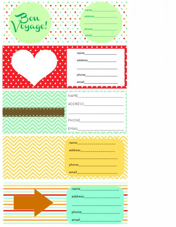Printable Luggage Tags and Packing Checklist. - The Pretty Bee