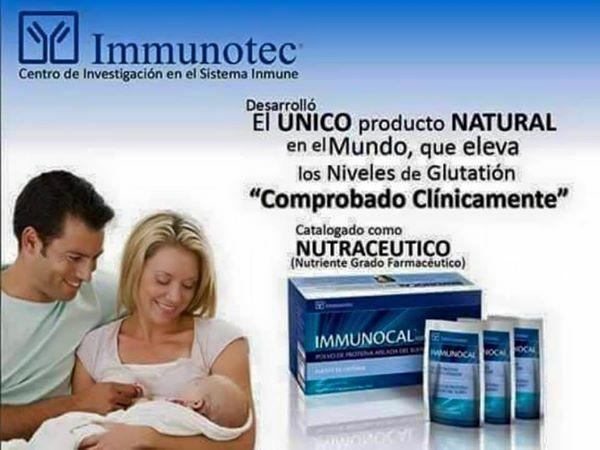 Immunocal es el único producto natural precursor del glutatión y regenerador de células.  Enterarte en esta página. Immunocal cómbate el cáncer, artritis, lupus, autismo, Alzheimer, Parkinson, fibromialgia, asma, enfermedades del corazon, ulcera, hepatitis, diabetes, gastritis, etc.