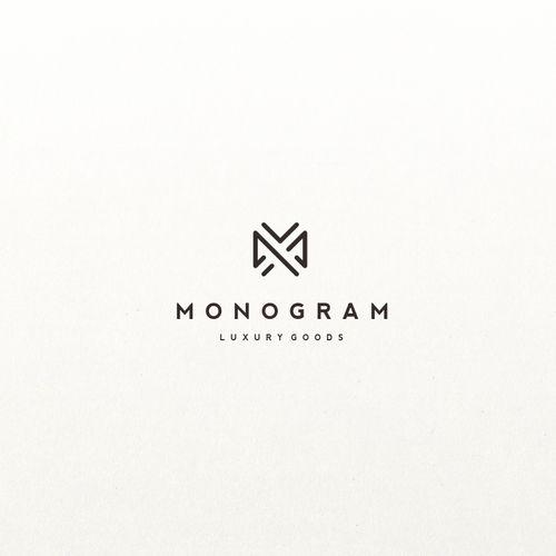 Monogram logo for retail luxury goods