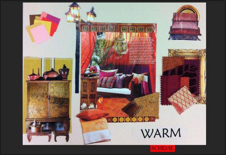 Exotic Living Area in a Warm Colour Scheme.