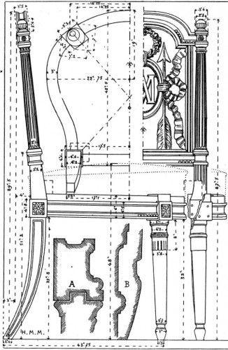 chaise époque XVIIIème louis XVI