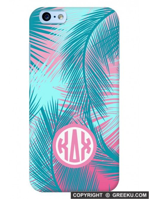 Grab this cute Palm Trees sorority iPhone case! https://www.greeku.com/sorority/merchandise/electronic-accessories/phone-cases/palm-trees-orange-phone-case/