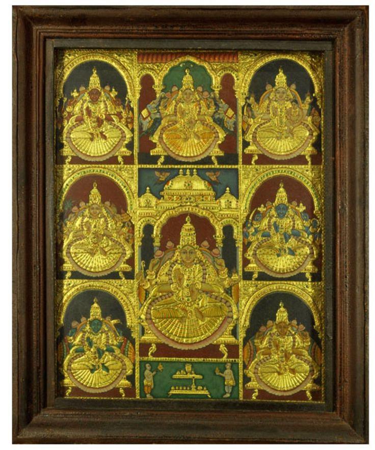 Asthalakshmi Tanjore Painting
