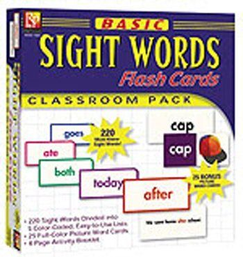 5 Pack REMEDIA PUBLICATIONS BASIC SIGHT WORDS FLASH CARDS by REMEDIA PUBLICATIONS. $104.78. Basic Sight Words Flash CardsThis jumbo classroom pack of flash cards features 245 of the most commonly-used words in reading and speaking. Based on the Dolch list, this research-based set of cards will help students become better and more fluent readers.The sight words are divided into 5 color-coded lists, making it easy for readers to tackle essential words in small, ma...