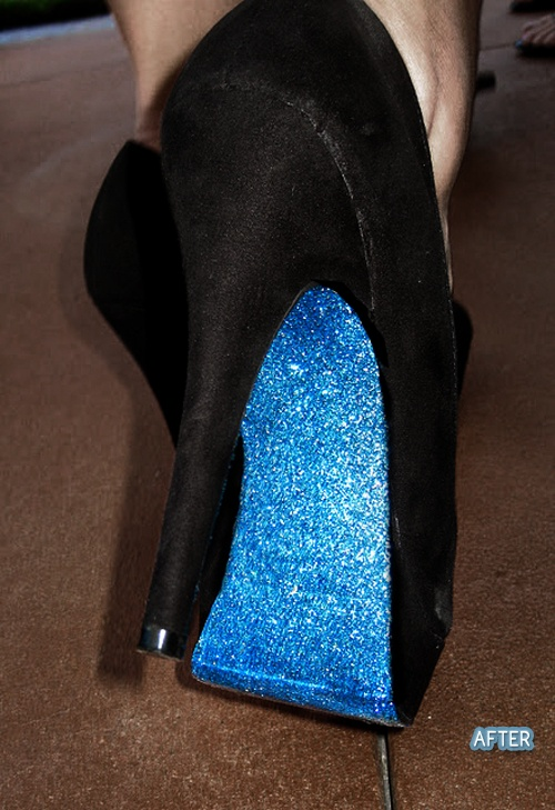 add some glitter to your shoesWedding Shoes, Mod Podge, Modge Podge, Glitter Shoes, Black Shoes, Black Heels, Bottom Shoes, Something Blue, Diy Glitter