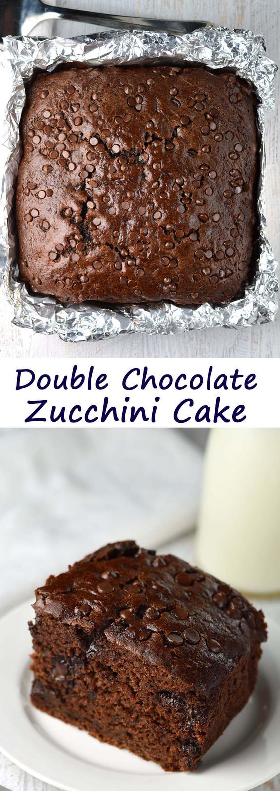 Double Chocolate Zucchini Cake. Half the oil but no one will know!