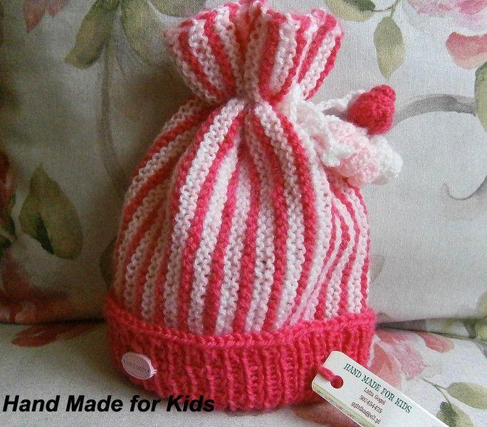czapka+różowa+35+cm+w+Hand+Made+Lidia+na+DaWanda.com