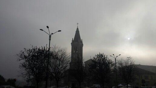 Piazza Santa Rita una mattina di Novembre..... surreale ....