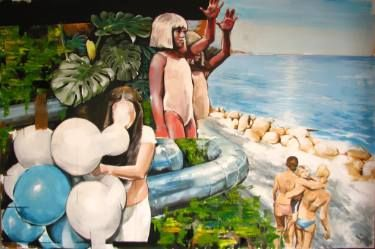 "Saatchi Art Artist Stefan Doru Moscu; Painting, ""Life is a beach"" #art"