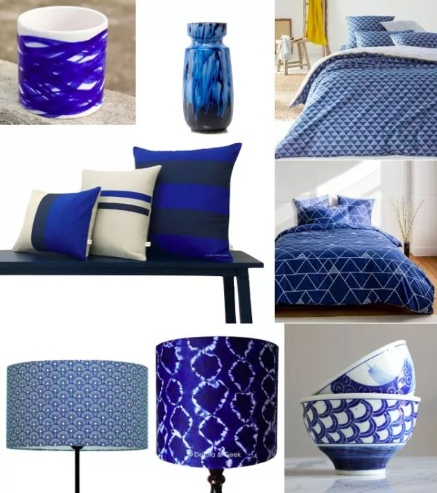 62 best images about bleu on pinterest for Objet deco bleu