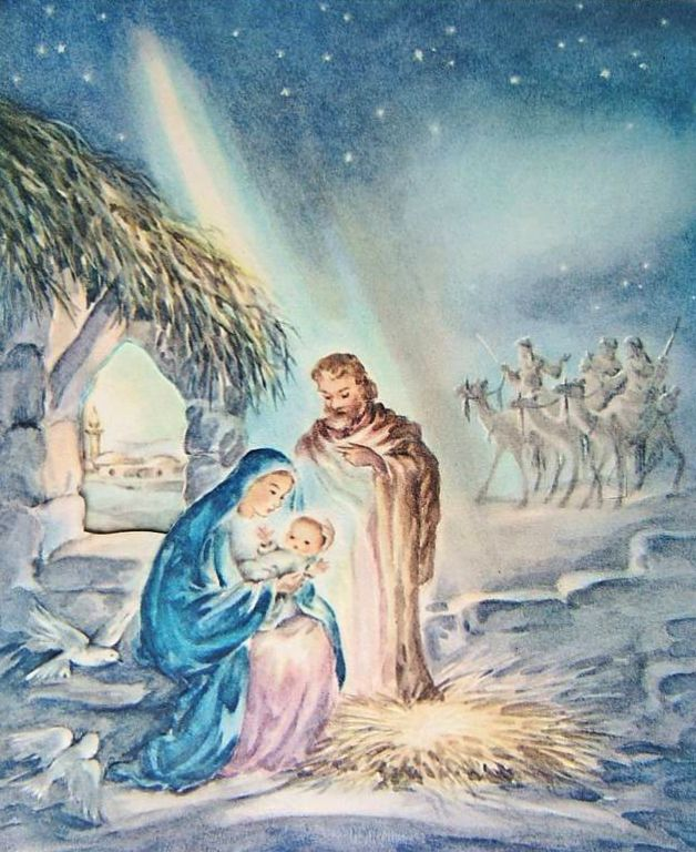 Vintage Nativity Card | Christmas Graphics 2 (Nativity) | Pinterest ...