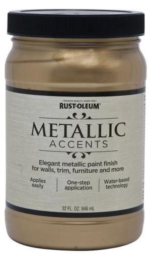 Metallic paint adds lots of drama in the bedroom. - Photo via Amazon.com