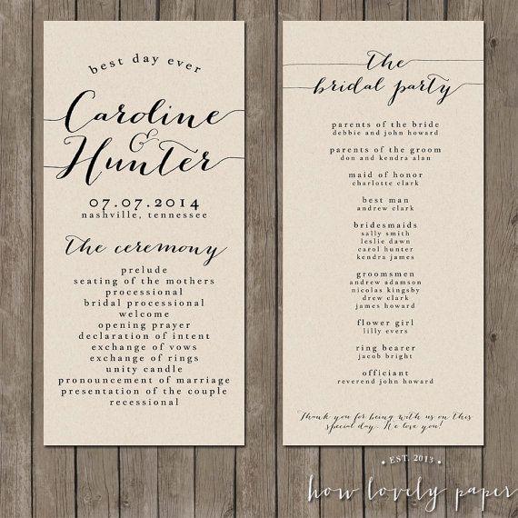 Best 20+ Wedding programs wording ideas on Pinterest   Wedding ...