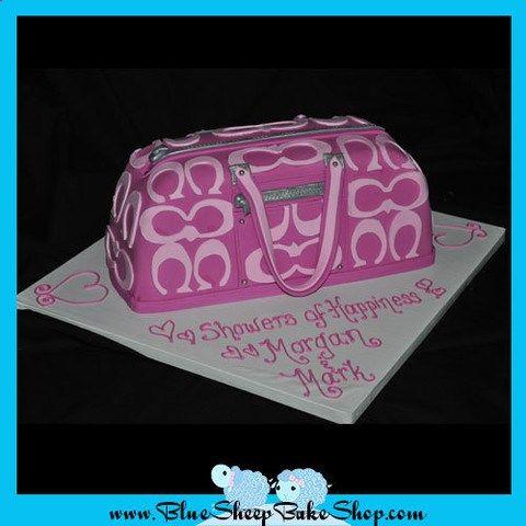 blue coach purse cakes | Pink Coach Purse Sculpted Birthday Cake