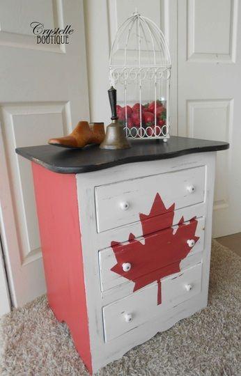 Canadian Flag Dresser