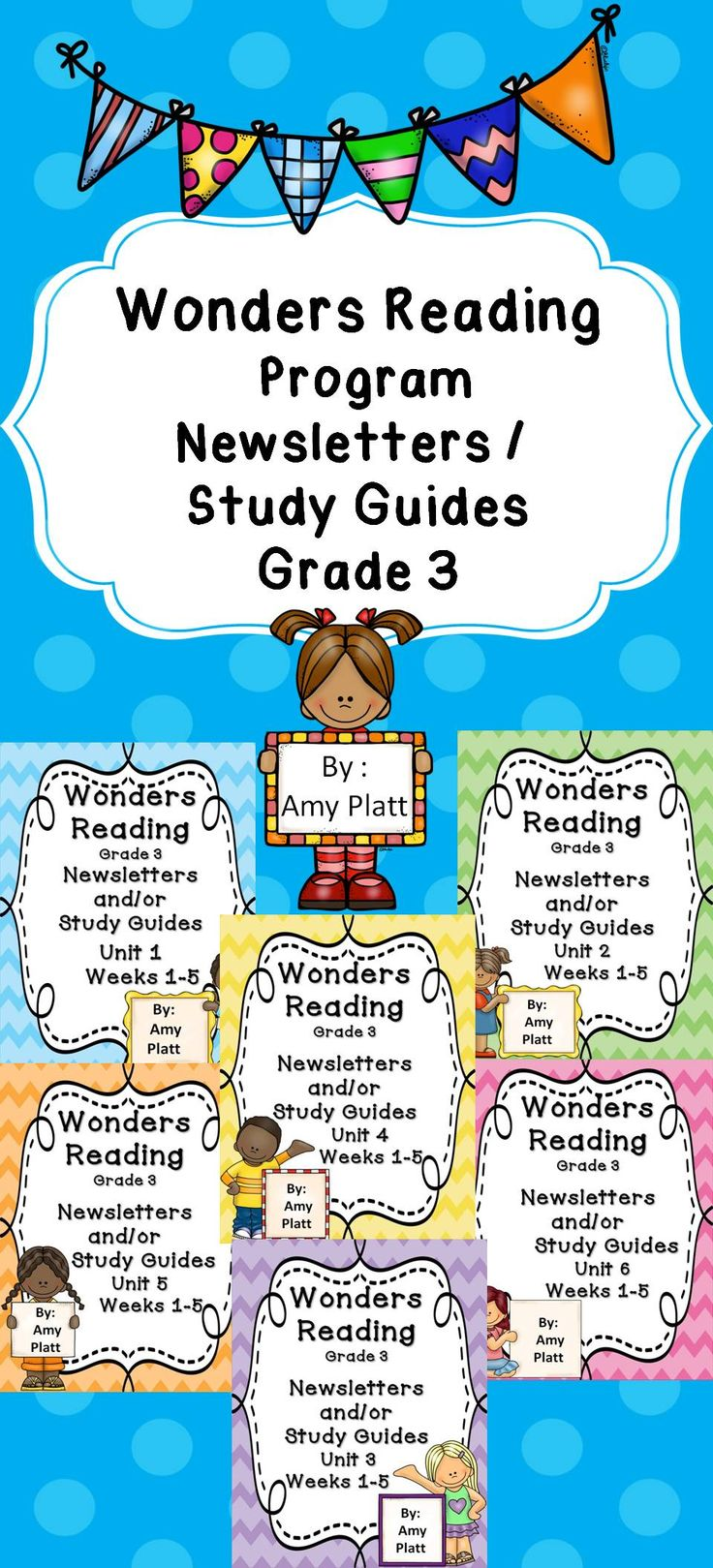 These are newsletters / study guides that go along with McGraw Hill Wonders Reading program for Grade 3. All the weekly skills are neatly organized in this newsletter that can be sent home each week. It's a great supplemental piece to the program!
