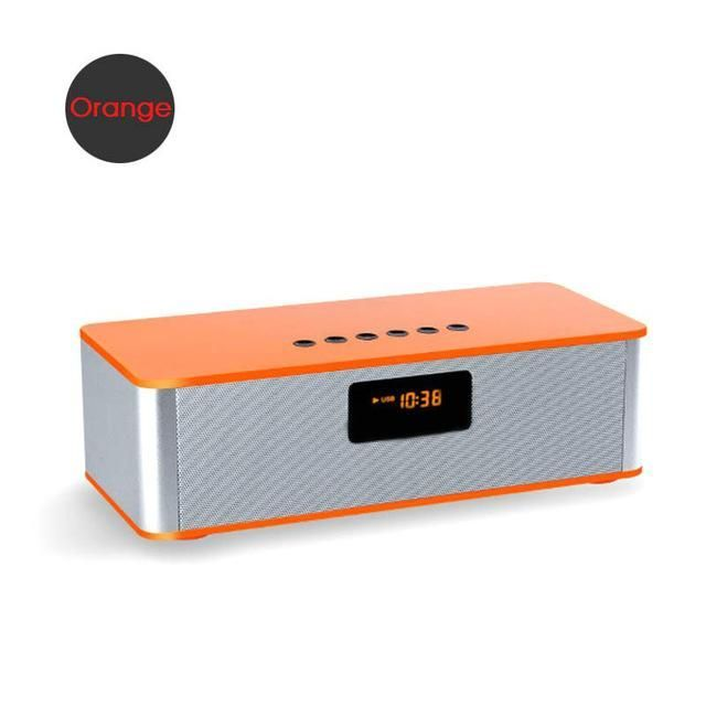 TRANSCTEGO wireless Bluetooth speakers desktop computers subwoofer FM radio alarm clock mobile phone stereo support cards